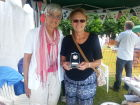 Lyn and Sally, who were both helping on the stall, holding our 'Best decorated Stall' trophy
