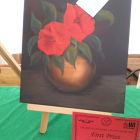 Hilary Houghton 1st with her still life painting