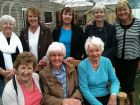Ramblers enjoying a day out to Ashton<br /> Hayes with coffee at Maureen Birtwistle&#039;s new home.