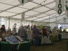 Marquee looking absolutely magnificent with bunting and banners on display.