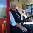 Member Barbara Hawley in the drivers seat.