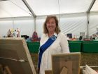 Elaine - One of our members stewarding the precious exhibits in the WI marquee.